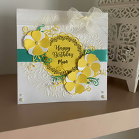 Personalised Birthday Card in Sunny Yellow