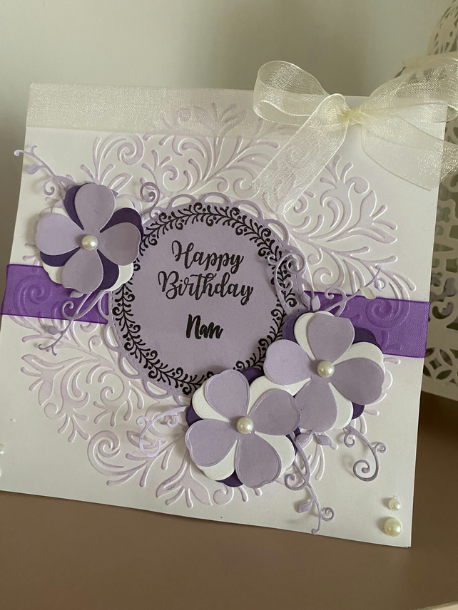 Personalised Birthday Card in Purple