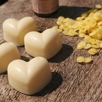 Lavender beeswax melts with lavender essential oils.