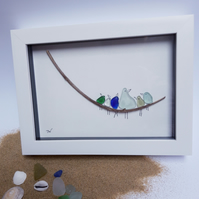 Framed Sea Glass Artwork -Heavy Weight