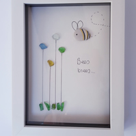 Framed Sea Glass - Bee's knees!
