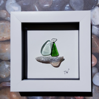 Framed Sea Glass - Seas The Day