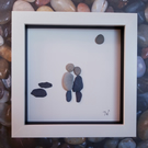 Framed Pebble Picture - Love on the Beach!