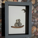 Framed Pebble Picture - Midnight Love!