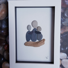 Framed Pebble Picture - Love.