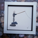 Framed Pebble Picture -Gone Fishing