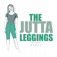 Jutta Leggings Cycling Shorts PDF Sewing Pattern for women UK sizes 6-14