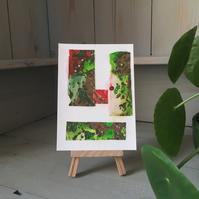 Summer in the Country No.4: Handmade Mini Abstract Artwork