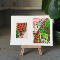 Summer in the Country No.7: Handmade Mini Abstract Artwork