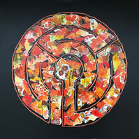 Labyrinth: Tangerine Dream - Original Collage Painting
