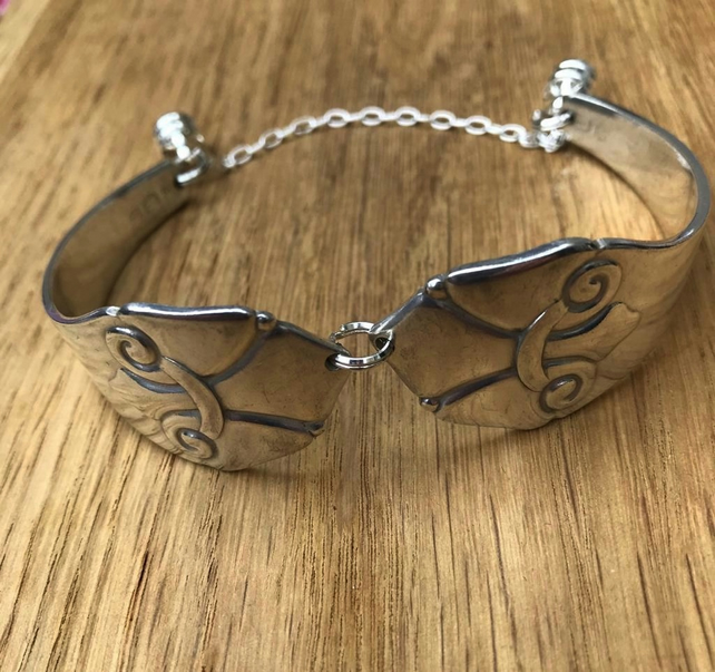 Danish modernist dessert spoon bracelet