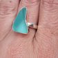 Cornish Seaglass Ring 925 Sterling Silver - Beach Seaside Coastal Rare Treasures