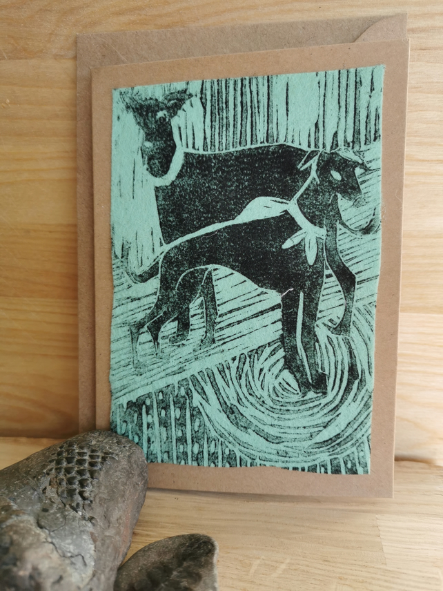 Greyhound card or a gift in a frame