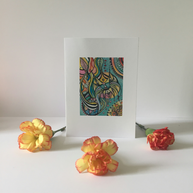 Little Cards pack of 4 Abstract Art
