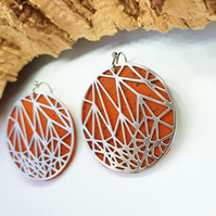 Fabrikk Stellar Laser Cut Earings - Orange Cork - Vegan Leather