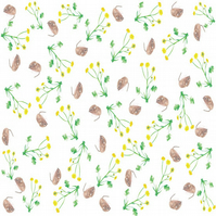 Mouse and meadow flower wrapping paper
