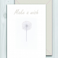 Make a wish Dandelion card