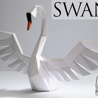 Swan model kit - DIY Papercraft sculpture