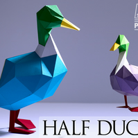 DIY Papercraft duck kit