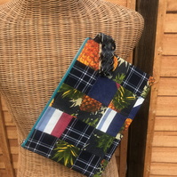 Patchwork Print Clutch Bag