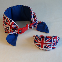 Small Koolneck Cooling Collar - adjustable between 10-13 inches - Union Jack