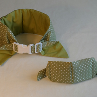 Small Koolneck Cooling Collar - adjustable between 10-13 inches - Green Dot