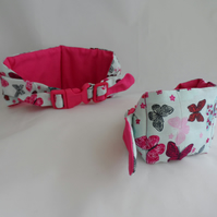 Small Koolneck Cooling Collar - adjustable between 10-13 inches - Butterflies