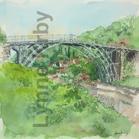 Ironbridge Print. Mounted to 12x12""