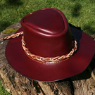 Leather bush hat