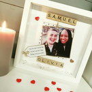 Handmade Personalised Scrabble Frame for Couple, Boyfriend, Girlfriend Husband