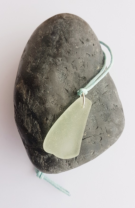 "18"" Seaglass Wax Cord Necklace"