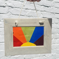 Rainbow suncatcher framed picture