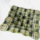 Tartan Design Fused Glass Decorative Dish