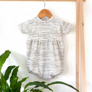 Monochrome Stripe Puffball Playsuit