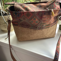 Cork and tapestry bag
