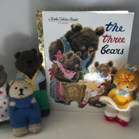 Storytime Book 'n' Toy - 'Goldilocks & The Three Bears' - with Book & 4 Figures