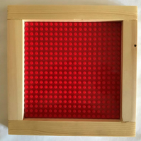 Lego Framed Baseboard For Building & Display - 'Simply Red'