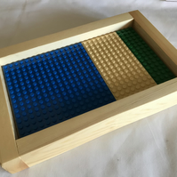 Lego Framed Baseboard For Building & Display - Desert Island Theme