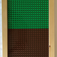 Lego Framed Baseboard For Building & Display - 'Forest'