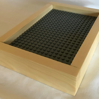 Lego Baseboard For Building & Display - 'Earl Grey'. With Blackboard On Reverse