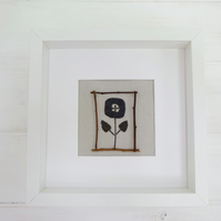 Modern Scandi Flower Textile Art