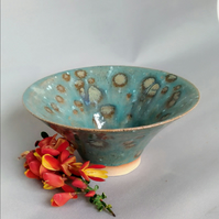 Ceramic Pottery Stoneware Hand Thrown Vessel Dish Pot Blue Lagoon Collection