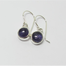 Amethyst earrings - made with recycled sterling silver