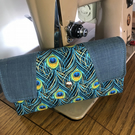 Peacock and Denim Ladies Purse Women's Wallets