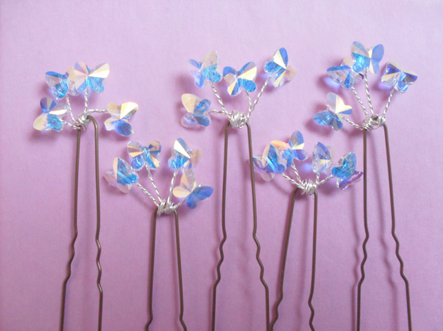 Butterfly hairpins- set of 5