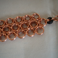 Copper Japanese weave chainmaille Bracelet