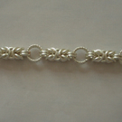 Silver Byzantine chainmaille bracelet
