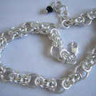 Silver Filled Byzantine Chainmaille Bracelet