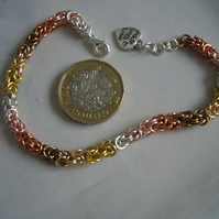Mini Byzantine Multi Coloured Chainmaille Bracelet