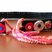 Refashioned Colourful Crochet Belt
